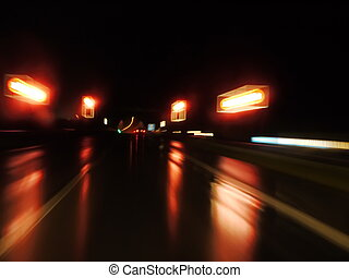 wet night street