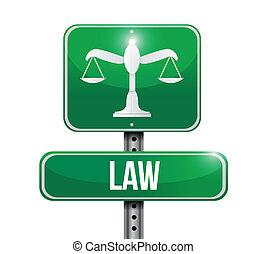 wet, ontwerp, straat, illustratie, meldingsbord