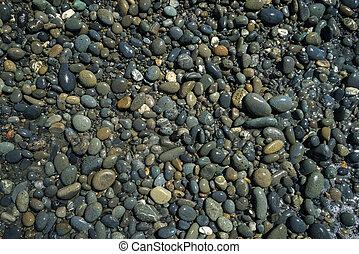 Wet Pebbles Background