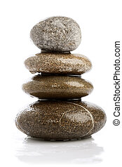 wet pebbles over white backgrounds