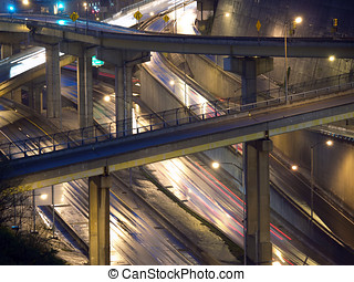 Wet Pittsburgh Freeway
