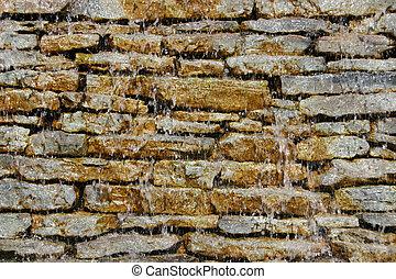 Wet rocky wall 1