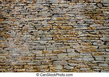 Wet rocky wall
