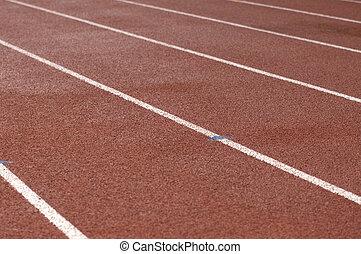 Wet Running Track