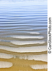 Wet sand texture on ocean shore