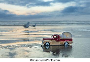 Wet Sand Truck
