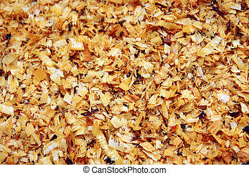 Wet Sawdust - Background of wet sawdust after the chop off ...