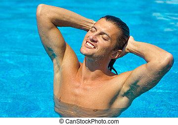 Wet sexy man