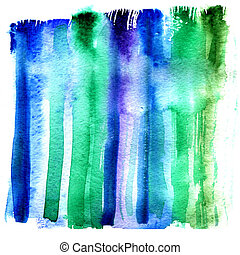 Wet strip of aquarelle paint