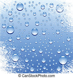 Wet surface. - Blue wet surface. Vector illustration.