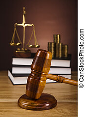 wet, thema, slaghamer, van, rechter