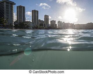 Wet Waikiki Sunrise in Honolulu Hawaii