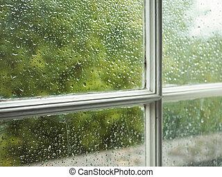 Wet window pane