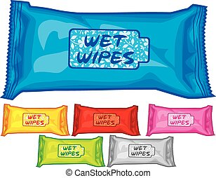 wet wipes boxes (box of tissues)