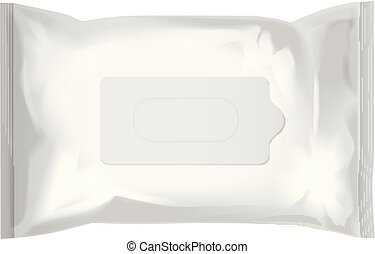 Wet Wipes Vector Realistic Pack On White Background Template Set