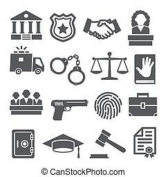 wet, witte , set, achtergrond, iconen