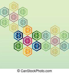 wetenschap, abstract, vector, ontwerp, moleculair, beeld
