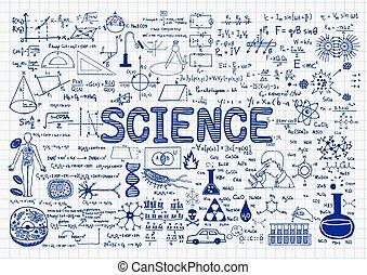 wetenschap, chalkboard