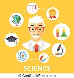 wetenschap, concept, illustratie