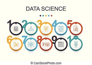 wetenschap, databank, data, eenvoudig, ontwerp,...