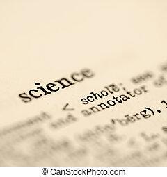 wetenschap, dictionary.