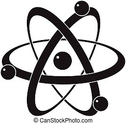 wetenschap, symbool, abstract, vector, atoom, of, pictogram