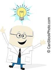 wetenschapper, idee