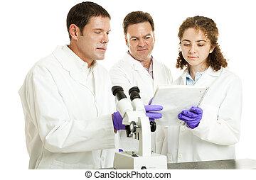 wetenschappers, lezen, testresultaten
