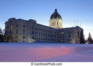 wetgevend, saskatchewan, gebouw