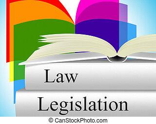 wetgeving, wet, vertegenwoordigt, wettigheid, misdaad, en,...