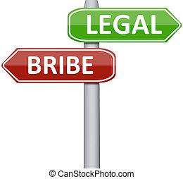 wettelijk, steekpenning