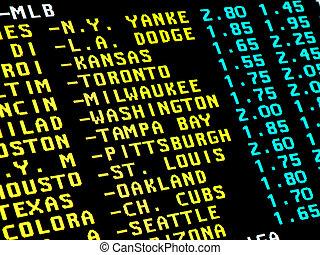 wetten, baseball