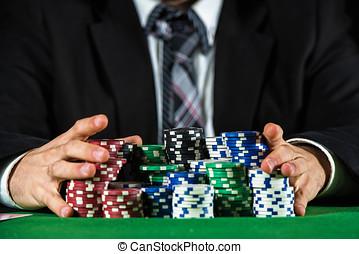 wetten, kasino, mann