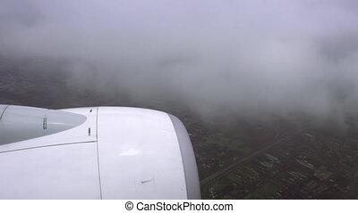 Wetter, Krankheit, schlechte, fliegendes, Verkehrsflugzeug