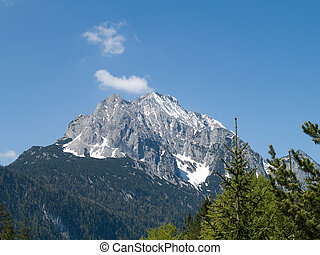 Wetterstein german alps in Bavaria
