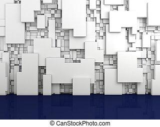 wewnętrzny, composition., abstrakcyjny