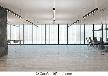 wewnętrzny, coworking, obszerny, biuro