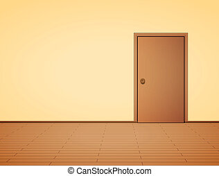 wewnętrzny, drzwi, blady