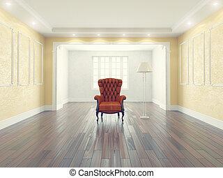 wewnętrzny, fotel