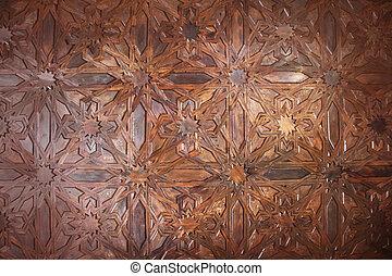 wewnętrzny, granada, pałac, alhambra, hiszpania