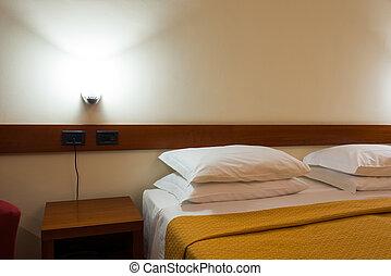 wewnętrzny, hotel, nowoczesny pokój