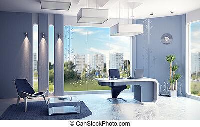 wewnętrzny, nowoczesny, biuro