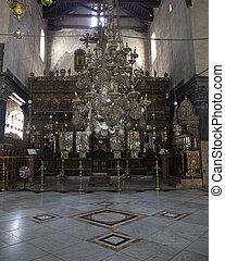 wewnętrzny, od, kościół, od, nativity
