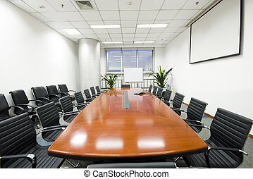 wewnętrzny, sala konferencyjna, nowoczesny, biuro