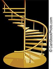 wewnętrzny, schody