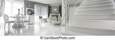 wewnętrzny, schody, marmur