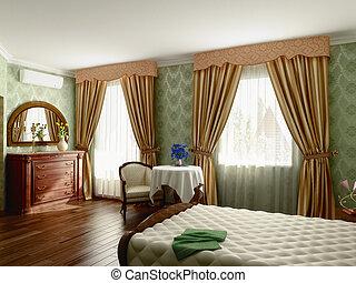 wewnętrzny, sypialnia