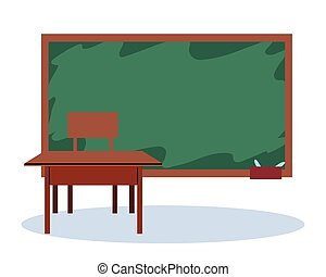 wewnętrzny, szkoła, tablica, klasa pokój