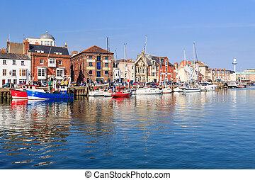 Weymouth Harbour Dorset England UK Europe
