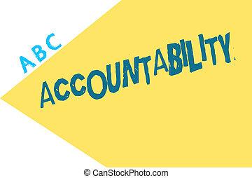 wezen, conceptueel, tekst, meldingsbord, accountability., ...